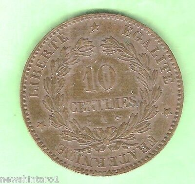 World Coin - France, 10 Centimes, 1872