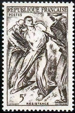 """France Timbre Stamp N°790 """"Resistance, 5F"""" Neuf Xx Ttb"""