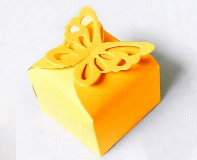 Gold Wedding/Party Sweets/Candy Favours Boxes with Ribbon Ties