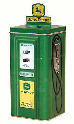 John Deere Tin Gas Pump Bank/ Canister NEW   FREE SHIPPING!