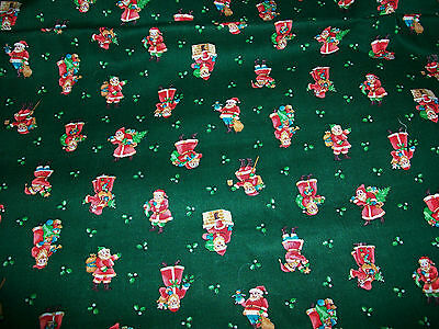 Cute Santa Claus Christmas Cotton  Fabric
