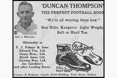 Kangaroo Hide Boot Advertisement 1934 Modern Reproduction Rugby Poster, A2