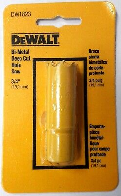 "DeWalt DW1823 3/4"" Bi-Metal Hole Saw USA"