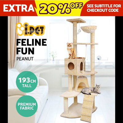 Cat Scratching Post Tree Gym House Scratcher Pole Furniture Toy Giant 193cm BE