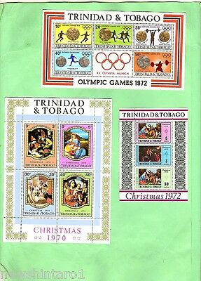 LOT OF 1960s & 1970s CARRIBEAN STAMP MINISHEETS ETC