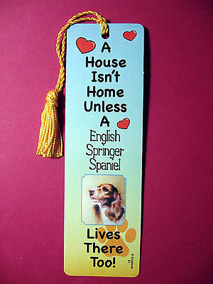 """English Springer Spaniel"" A House Isn't  Tassel KEB (flag gold tassel) Sku#21"