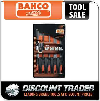 "Bahco 5 Piece 200mm (8"") File Set & Carry Pouch - 1-478-08-1-2"