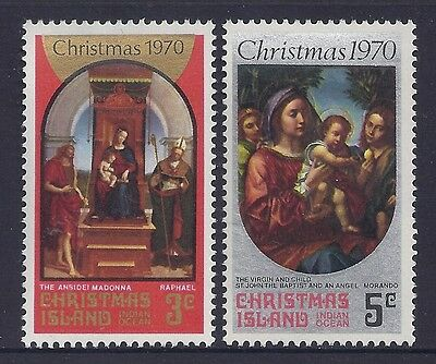 Christmas Island 1970 Christmas Fine Mint Set Of 2 Mnh/muh