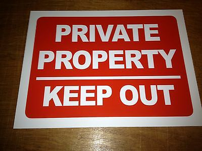 Private Property Keep Out Sign Rigid Plastic A3 Size (f3r1)