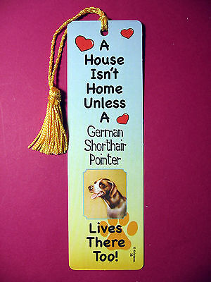 German Shorthair Pointer A House Isn't  Home Tassel KEB (flaggold tassel) Sku#32