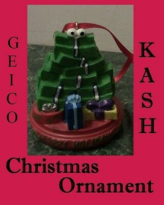 Officially Licensed Geico KASH Christmas Ornament - old gecko lizard commercial