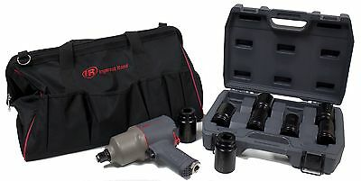 """Ingersoll-Rand NEW Quiet 3/4"""" Impact Wrench Kit #2145QiMAX"""
