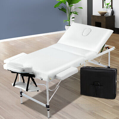 Zenses Massage Table 75cm Portable 3 Fold Aluminium Therapy Beauty Waxing Bed