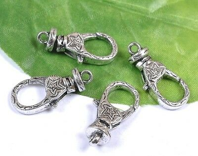 fre ship 10pcs Tibetan Silver Stars Lobster Clasps Charms 30X12MM   SH2054
