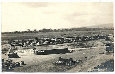 RPPC   3rd Aerial Camp  Tents, Supplies, etc  Looking South from Hanger c1915