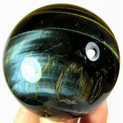 48.5mm Natural Gold & Blue Tiger Eye Crystal Sphere/Ball-tes50ie0214