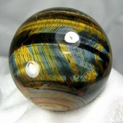 46.5mm Natural Gold & Blue Tiger Eye Crystal Sphere/Ball-tes50ie0221