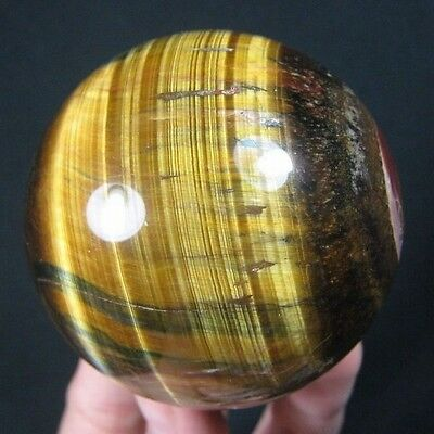 52mm Natural Gold & Blue Tiger Eye Crystal Sphere/Ball-tes52ie0383