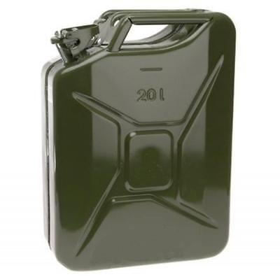 Metal Fuel Jerry Can Diesel Petrol Oil 20 Litre Green Military Style Army