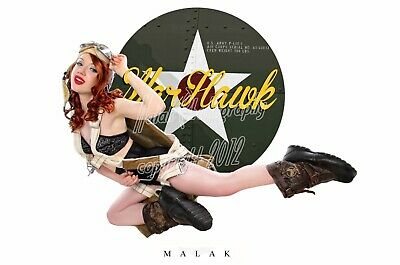WWII Nose Art Michael Malak Cheesecake Pin Up Giclee Jess Flying Warhawk 11X17