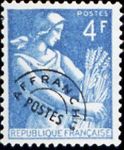 "FRANCE PREOBLITERE TIMBRE STAMP N°106 ""TYPE MOISSONNEUSE 4F "" NEUF x TB"