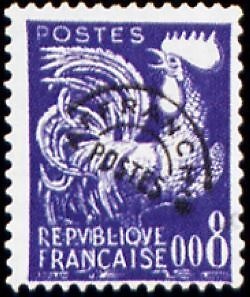 """FRANCE PREOBLITERE TIMBRE STAMP N°119 """"TYPE COQ GAULOIS 8c """" NEUF (x) TB"""