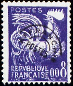 """FRANCE PREOBLITERE TIMBRE STAMP N°119 """"TYPE COQ GAULOIS 8c """" NEUF x TB"""
