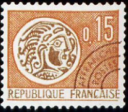 "FRANCE PREOBLITERE TIMBRE STAMP N°124 "" MONNAIE GAULOISE 15c "" NEUF (x) TB"
