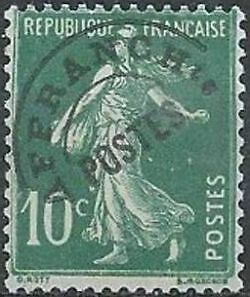 """FRANCE PREOBLITERE TIMBRE STAMP N°51 """"TYPE SEMEUSE 10C VERT """" NEUF (x) TB"""
