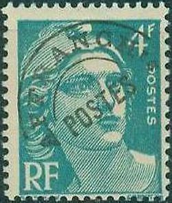 """FRANCE PREOBLITERE TIMBRE STAMP N°98 """"TYPE MARIANNE 4F EMERAUDE """" NEUF (x) TB"""