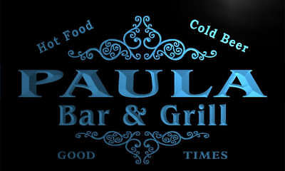 u35371-b PLATTS Family Name Bar /& Grill Home Brew Beer Neon Sign