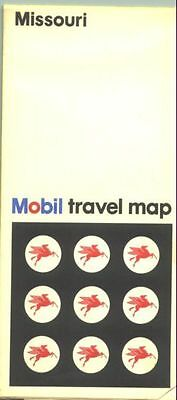 1972 Mobil Missouri  Vintage Road Map
