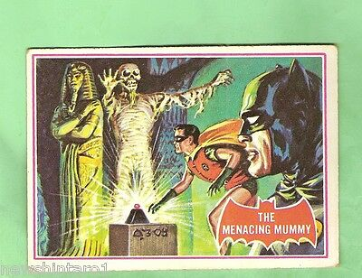 Scanlens 1966 Batman Red Bat Card #3A The Menacing Mummy