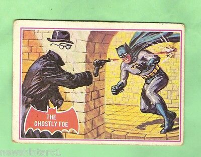 Scanlens 1966 Batman Red Bat Card #1A The Ghostly Foe