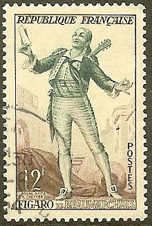 """France Timbre Stamp N°957 """"figaro"""" Oblitere Tb"""