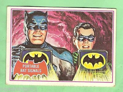 Scanlens 1966 Batman Red Bat Card #16A  Portable Bat Signs