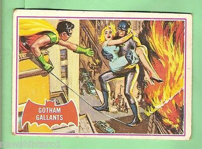 Scanlens 1966 Batman Red Bat Card #15A  Gotham Gallants