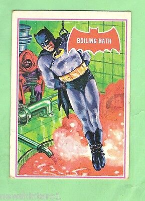 Scanlens 1966 Batman Red Bat Card #12A  Boiling Bath