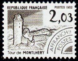 """FRANCE PREOBLITERE TIMBRE STAMP N°176 """"MONUMENTS,MONTHLERY, ESSONNE"""" NEUF xx TTB"""