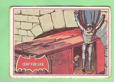Scanlens 1966 Batman Red Bat Card #19A  Leap For Life