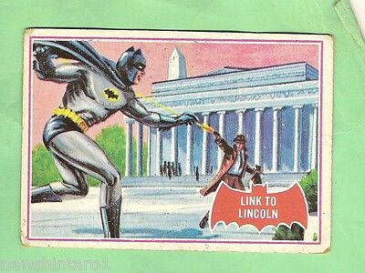 Scanlens 1966 Batman Red Bat Card #17A  Link To Lincon