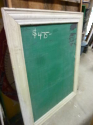early 20th century schoolhouse SLATE chalkboard FRAMED pine molding 57 x 45""