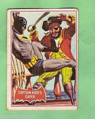 Scanlens 1966 Batman Red Bat Card #32A  Captain Kidd's Capers