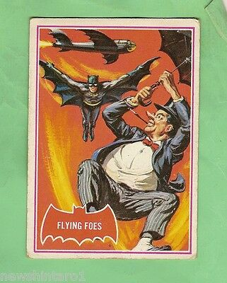 Scanlens 1966 Batman Red Bat Card #31A  Flying Foes
