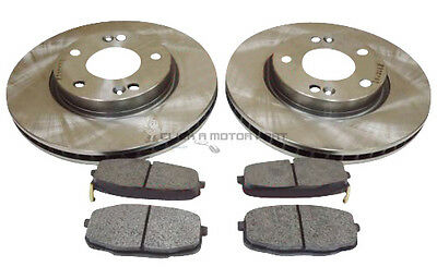 2009-2013 FRONT BRAKE DISCS AND PADS SET *BRAND NEW* FOR HYUNDAI i20 1.4 CRDi