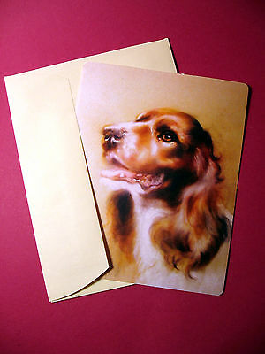 """English Springer Spaniel"" Single Dog Greeting Card -Blank Note Card - sku# 21"