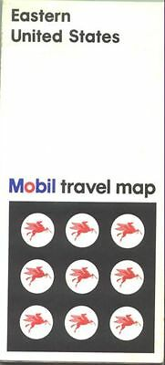 1969 Mobil Eastern US Vintage Road Map