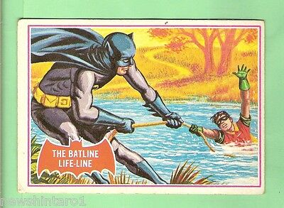 Scanlens 1966 Batman Red Bat Card #7A The Batline Lifeline