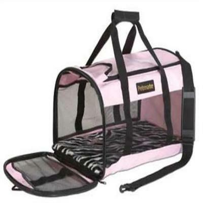 Petmate Soft Sided Kennel Cab Pet Carrier Large Pink Small Dogs & Cats Pets New
