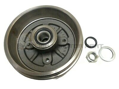 Peugeot 206 98-06 Rear 1 Brake Drum + Fitted 1 Wheel Bearing & Hub Nut No Abs